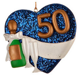 Golden Anniversary Heart Christmas Ornament