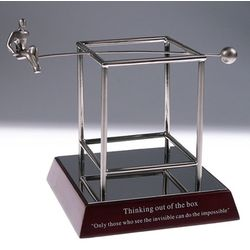 Inspirational Desk Accessories thinking out of the box inspirational desk sculpture - findgift