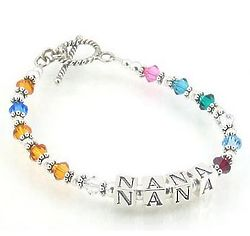 Nana Swarovski Sterling Silver Grandmother's Bracelet