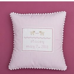 Personalized Embroidered Sheep Baby Pillow