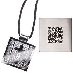 Stainless Steel Cross Necklace with QR Code Faith