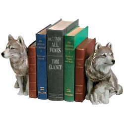 Wolf Bookends