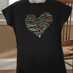 Personalized Her Heart of Love T-Shirt