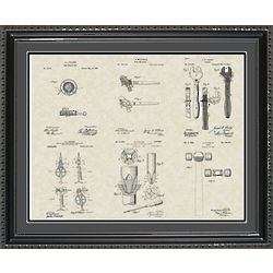 Construction Tools Framed Patent Art