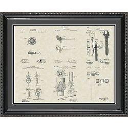 Construction Tools Framed Patent Art