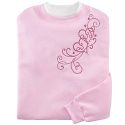 Embroidered Valentine Heart Sweatshirt