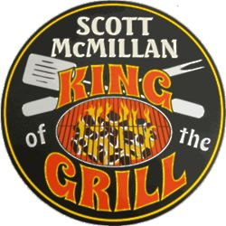 King of the Grill Personalized Pub Sign