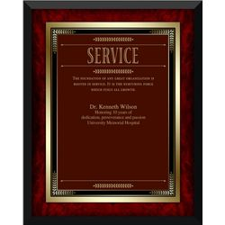 Rosewood Service Award Plaque