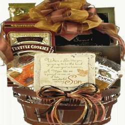 To Son from Mother Gourmet Gift Basket