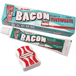 Bacon Flavored Toothpaste and Floss Gift Set