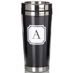 Initial Travel Mug with Cocktail Shaker Lid