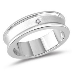 Diamond Accented Ring in Silver