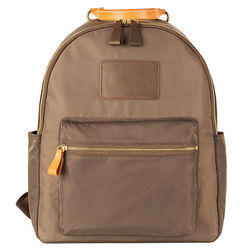 Personalized Brandy Nylon and Leather Backpack