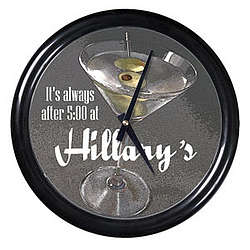 Personalized Martini With Olives Clock