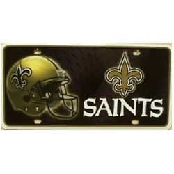 New Orleans Saints NFL Football License Plate