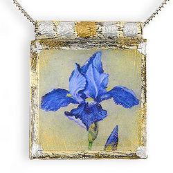 Siberian Iris Necklace