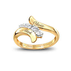 Our Love Grows Stronger Personalized Journey Ring