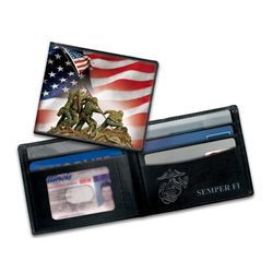 Semper Fi United States Marine Corps Leather Wallet