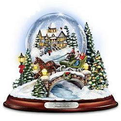 Thomas Kinkade Jingle Bells Musical Snowglobe
