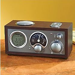 Vintage Clock Radio with Weather