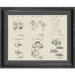 Jacques Cousteau Framed Patent Art