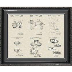 Jacques Cousteau Framed Patent Art
