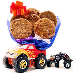Monster Truck Cookie Bouquet