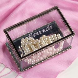 Mother's Personalized Glass Jewelry Box