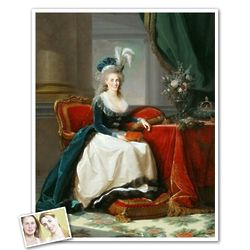 Classic Painting Portrait of Marie Personalized Print