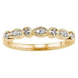 10kt Yellow Gold and Diamond Promise Ring