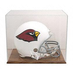 Arizona Cardinals Oak Helmet Logo Display Case