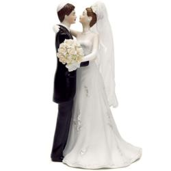 Traditional Jewish Bride and Groom Cake Topper