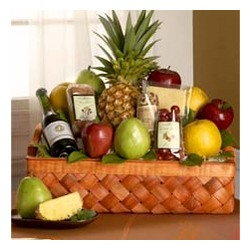 Country Harmony Deluxe Fruit Gift Basket