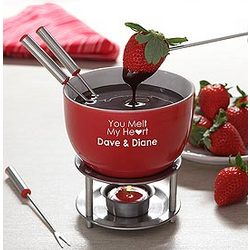 You Warm My Heart Personalized Fondue Set