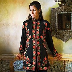 Kashmiri Floral Wool Jacket