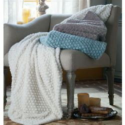 Lattice Faux Fur Throw