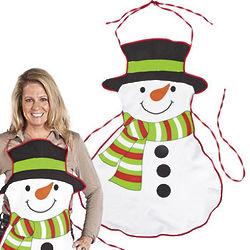 Adult Snowman Apron