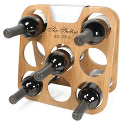 Personalized Bamboo Wine Rack
