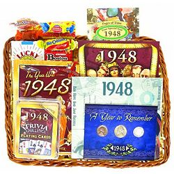 65th Birthday Gift Basket
