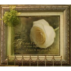 My Angel Mother Framed Print with Quote