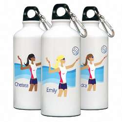Personalized Go Girl Volleyball Water Bottle