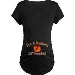 I'm a Soldier's Lil' Pumpkin Maternity Dark T-Shirt