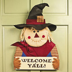 Welcome Scarecrow Door Hanger