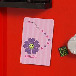Personalized Flower Locker Magnet
