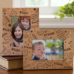 Personalized Smiley Faces Picture Frame