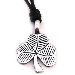 Pewter Shamrock Choker Necklace