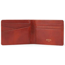 Italian Leather Small Bifold Wallet
