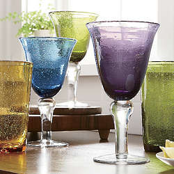 Corsica Colored Glass Goblets
