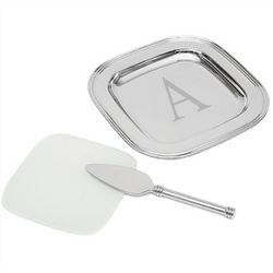 Personalized Silver-Plated Cheese Plates
