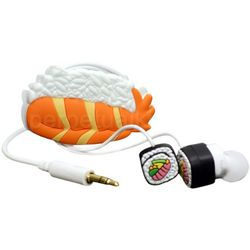 Sushi Roll Earbuds and Cord Wrapper